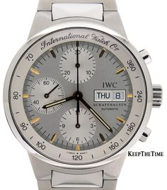 IWC GST Chronograph Stainless Steel Silver Dial