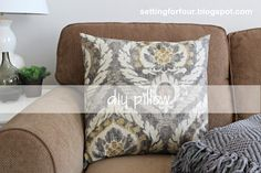 Make new covers for Goodwill pillows so they match your decor. Super easy! #ronisha