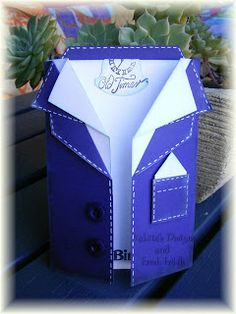 Fathers Day Card and template tutorial Valita's Designs  Fresh Folds: Mens Jacket Card
