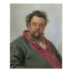Portrait of the Composer Modest Mussorgsky, 1881 Ilya Repin, Russian Painting, Russian Art, Russian Culture, Duchesse De Devonshire, Costume Russe, Modest Mussorgsky, Pictures At An Exhibition, Great Paintings