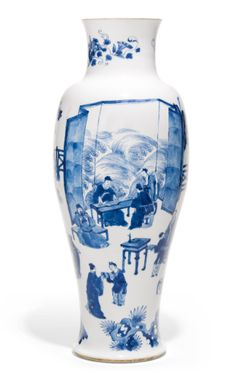 A BLUE AND WHITE BALUSTER VASE<br>QING DYNASTY, KANGXI PERIOD | Lot | Sotheby's