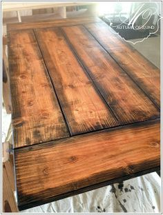 farmhouse table - makeover