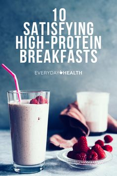 If you wake up famished or are prone to afternoon slumps, you may be lacking protein as a fuel source in your morning routine. Healthy Food To Lose Weight, Healthy Food List, Heart Healthy Recipes, High Protein Recipes, Healthy Meals For Kids, Protein Foods, Healthy Fats, Healthy Snacks, Fruit Smoothies