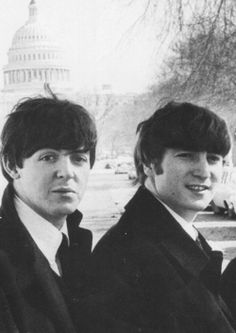Paul McCartney and John Lennon (in Washington DC)