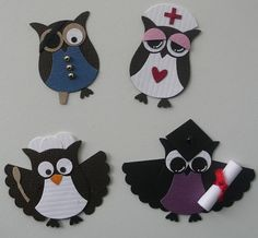 Different owls using Stampin Up Owl Punch by limeyey