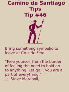 Camino Tips 46: Bring something symbolic to leave at Cruz de Fero.