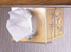 Pop-A-Tissue - Camco 57101 - Bathroom Storage - Camping World Travel Trailer Decor, Travel Trailer Organization, Rv Organization, Rv Travel, Travel Trailers, Organizing Ideas, Rv Camping Checklist, Rv Camping Tips, Camping Ideas