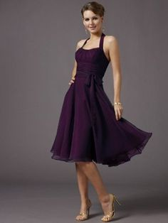 Bridesmaid Dress by bridgett It's Eggplant Purple :-) I like the style, would probably look nice on any body shape, just different color.