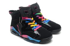 Nike Air Jordan AJ6 Retro Jordan 6 Basketball Shoes Men And Women Shoes Double Leather Black Colorful|only US$98.00 - follow me to pick up couopons.