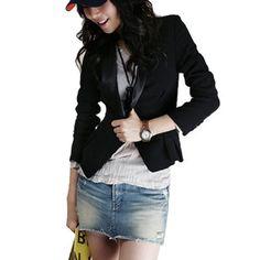 Allegra K Lady Shawl Collar Long Sleeve Buttoned Blazer Coat Black. From #Allegra K. Price: $16.98