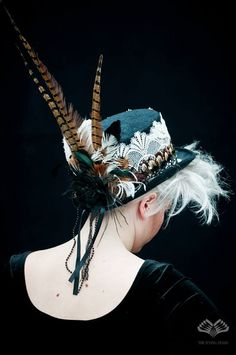 Flying Heads Ladies Tophat Decorated with by TheFlyingHeads