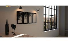 Galho incriminou Corte Laser Decoração De Parede Metal Arte de parede Cama De Casa Decoração De Quarto