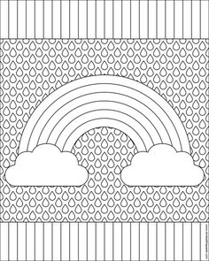 rainbow sun colouring page coloring print and sun - Rainbow Coloring Pages For Kids Printable