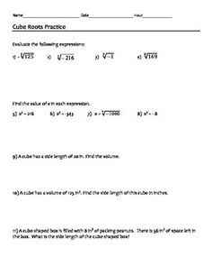... Notes and Worksheet (8.NS.2) | Square Roots, Worksheets and Roots