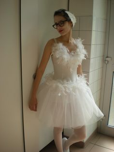 white swan hairpiece