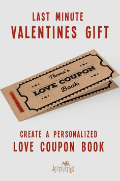 ✔ Gift Ideas For Husband Last Minute Valentines Gifts For Boyfriend, Boyfriend Gifts, Valentine Gifts, Planner Book, Love Coupons, Coupon Template, Bingo Cards, Last Minute Gifts, Book Gifts