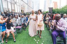 Antia and Gary's Contemporary Terrace Wedding in New York City http://munaluchibridal.com/antia-and-garys-contemporary-terrace-wedding-in-new-york-city/