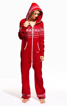 OnePiece Lusekofte Onesie Red / White Pas sure sure ! Christmas Pajamas, Christmas Onesie, Pullover, Dress Me Up, Passion For Fashion, Lounge Wear, Casual, Red And White, What To Wear