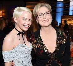 A very lucky Michelle Williams caught up with Meryl Streep.