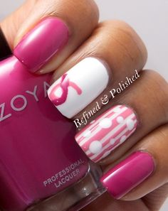 Adorable, and love the colors.  Breast Cancer Awareness Dots and Stripes | Refined & Polished