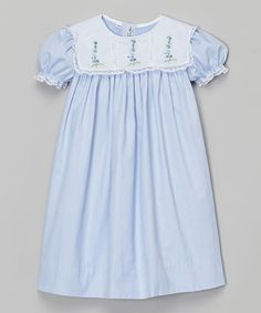 This Blue Square Collar Anne Dress - Infant, Toddler & Girls by Orient Expressed is perfect! #zulilyfinds