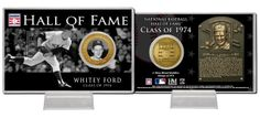 AAA Sports Memorabilia LLC - Whitey Ford Class of 1974 Hall of Fame Bronze Coin Card, #newyorkyankees #yankees #nyyankees #whiteyford #mlb #mlbcollectibles #sportsmemorabilia #sportscollectibles $19.99 (http://www.aaasportsmemorabilia.com/mlb/whitey-ford-class-of-1974-hall-of-fame-bronze-coin-card/)