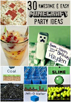 30 Awesome & Easy Minecraft Party Ideas