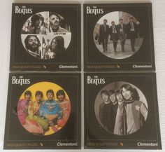 """Online veilinghuis Catawiki: 4 puzzles from The Beatles - 12"""" Vinyl size - 112pcs"""