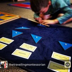 "50 mentions J'aime, 7 commentaires - Westside Montessori School 🇨🇦 (@montessori_elementary) sur Instagram : ""Sorting by sides, exploring triangles. #wmsgeometry Reposted from @thetravellingmontessorian 🔺"""