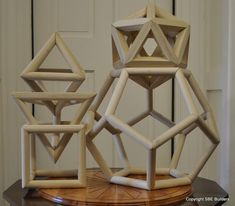 This script returns the compound saw miter and saw blade bevel angles for cutting Platonic Solids or or Archimedeans Solids out of wood. Each edge of the Platonic Solid or or Archimedeans Solid is a hip rafter. Roof Surface Angle E of the Tetrahedron = 1/2 the corner angle of the face of a Platonic Solid or Archimedeans Solid.