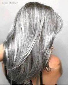 Are you looking for ombre hair color for grey silver? See our collection full of ombre hair color for grey silver and get inspired! #hair #haircolor #hairideas #hairinspiration #hairstyle Ombre Hair Color, Cool Hair Color, Grey Ombre, Ash Ombre, Brunette Color, Blonde Grise, Silver Grey Hair, White Hair, White Blonde