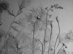Botanical plaster relief