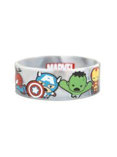 Marvel The Avengers Kawaii Rubber Bracelet