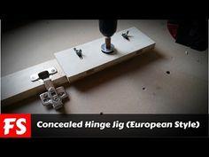 DIY Concealed Hinge Jig (FS Woodworking) - YouTube