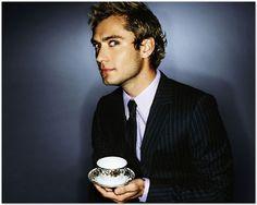 Jude Law drinking tea