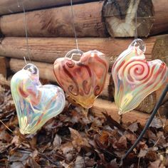 A personal favorite from my Etsy shop https://www.etsy.com/listing/262039802/handmade-hanging-glass-free-form-heart