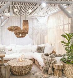 lounge ecke im boho style einrichten