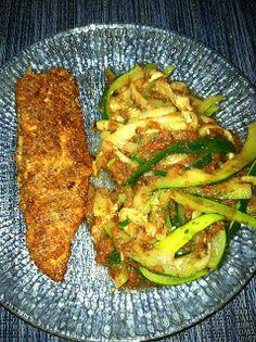 "Pensive Paleo: Almond-Crusted Tilapia with Zucchini ""Spaghetti"" &..."