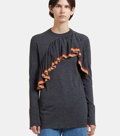 MARNI Long Asymmetric Frilled Sweater. #marni #cloth #