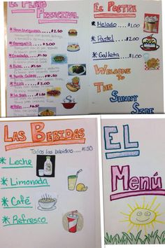 Spanish 1 Menu assignment. Easy and creative way to review food names and descriptions. I find this to be perfect for basic level.