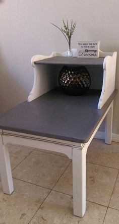 Custom two tiered vintage wood table. by SarahsHouzFurniture