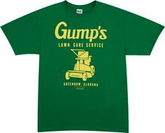 After he retired from being a shrimp boat captain, Forrest Gump mowed lawns in his hometown of Greenbow, Alabama. This shirt advertises Gump's Lawn Care. Funny Dad Shirts, Funny Gifts For Dad, Dad To Be Shirts, Lawn Care Companies, Lawn Care Business, Shop Fans, Dad Humor, Green Garden, Girl Blog