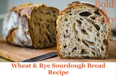 Today's recipe is for a basic sourdough bread made of whole-grain rye flour and wheat flour with 80% hydration. Such types of bread are often called Artisan Breads. #sourdough #bread #food #recipe #foodblog #boldandtasty How To Make Dough, How To Make Bread, Bread Food, Bread Baking, Artisan Bread Recipes, Rye Flour, Types Of Bread, Sourdough Bread, Baked Goods