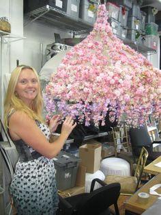 Preston Bailey Floral Umbrella Design