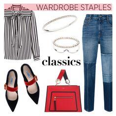 """Wardrobe Staples"" by littlehjewelry ❤ liked on Polyvore featuring STELLA McCARTNEY, Philosophy di Lorenzo Serafini, Prada, contestentry, WardrobeStaples, pearljewelry and littlehjewelry"