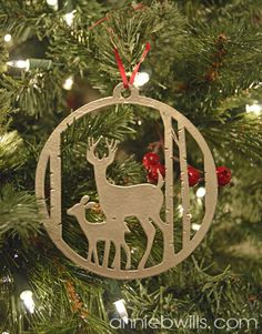 Faux Metal Christmas Ornament by Annie Williams - made using Silhouette Chipboard and my CAMEO #silhouettedesignteam