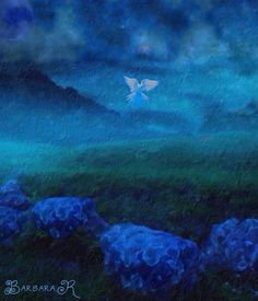 Blue Moon Night Dove - Barbara Richman @Bazaart