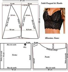 Fantastic 30 Sewing tutorials tips are readily available on our internet site. Dress Sewing Patterns, Sewing Patterns Free, Sewing Tutorials, Clothing Patterns, Diy Bralette, Bralette Tops, Underwear Pattern, Bra Pattern, Fashion Sewing
