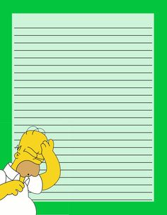 """The Simpsons """"Homer"""" Stationery .... free to use and free to share for personal use. <3"""