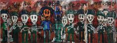 Aboudia at the Saatchi Gallery
